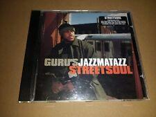 GURU * GURU'S JAZZMATAZZ STREET SOUL * HIP HOP CD ALBUM EXCELLENT 2000