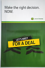 Original John Deere Let's Meet for a Combine Deal Promotion English Text