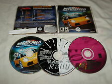 Need for Speed Hot Pursuit 2 (PC, 2004) , III (2000) & Rage Rally (PC, 2001)