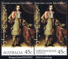 1996 Tercentenary of Western Australia & Christmas Island se-tennant pair - MNH