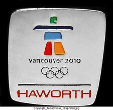 OLYMPIC PINS 2010 VANCOUVER CANADA HAWORTH SPONSOR LOGO