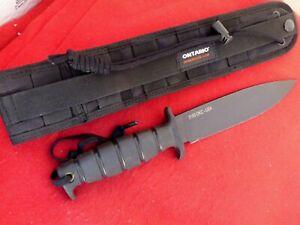 "Ontario USA Gen II SP-42 12"" overall 5160 Fixed Blade Tactical Sheath Knife"