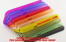 COVER PER SAMSUNG S5 MINI SM-G800F ULTRA SLIM 0.3MM CUSTODIA THIN VARI COLORI
