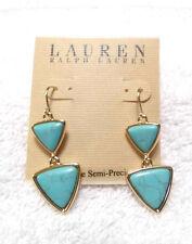 Ralph Lauren Gold/Turq Drop Earrings