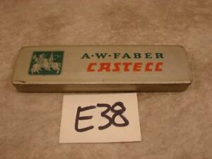 E38 VINTAGE A.W. FABER CASTELL PENCIL 2H TIN CASE BOX ONLY