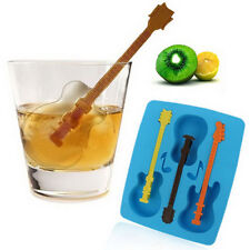 Novelty Chillers Ice Cube Tray Ice Cubes - GUITARS with mixing stick.