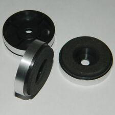 4x runde Hifi Gerätefüße  Ø 30x8mm Silber NEU Gehäusefüße  Dämpfer Case Feet