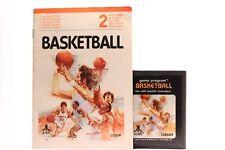 BASKETBALL ATARI CX 2636 (2600) CARRIAGE GAME  WITH  MANUAL 1980