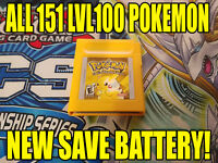 POKEMON YELLOW UNLOCKED | All 151 POKEMON - AUTHENTIC & NEW SAVE BATTERY!