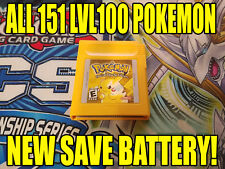 POKEMON YELLOW All 151 GAME UNLOCKED AUTHENTIC & NEW BATTERY!