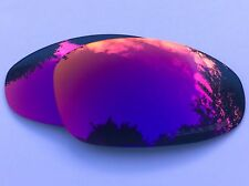 ENGRAVED POLARIZED + RED CUSTOM MIRRORED REPLACEMENT OAKLEY JULIET LENSES