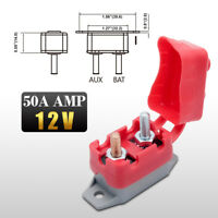 Auto Reset Circuit Breaker 50 AMP 12V Fuse Dual Battery Car Caravan Boat H/DUTY