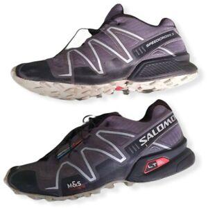 Salomon Speedcross 3 Racing Shoes Trainers Grey UK Size 7.5 Used