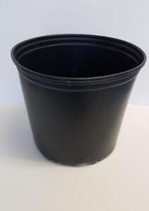 TRUE 3 GALLON NURSERY black PLASTIC POTS {set of 25} flower