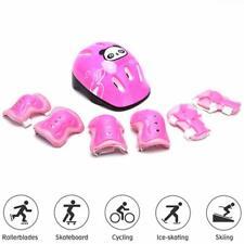 7tlg Kinder Skateboard Fahrrad Helm Knie Schutzausrüstung Protektoren Schutz Set
