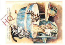 Picture Postcard-:Louis Wain, Cats In Bath, Tas Collectables