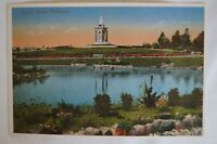 Queens Statue Melbourne Vic Australia Vintage Repro Collectable Postcard.