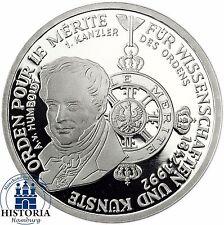 BRD 10 DM Orden Pour le Merite 1992 Silber Spiegelglanz Münze in Münzkapsel