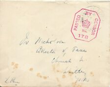 More details for 1918 army post office sx14 (greece) with censor no 178 on cover to whitby