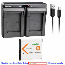 NP-BN1 BC-CSN Battery or Dual Charger for Sony Cyber-shot DSC-W610 W620 W630 TX1