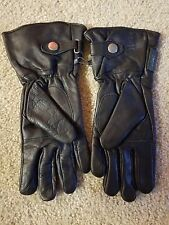 New Gants Road Iron Motocycle Leather Gloves XS Black