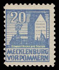 EBS Germany 1946 Soviet Zone Mecklenburg-Vorpommern 20 Pf Michel 38y MH*