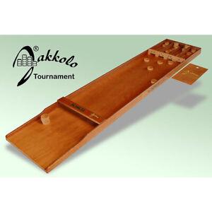 Orig. Jakkolo Tournament Shuffleboard Brettspiel inkl. 30 Spielsteine/Pucks