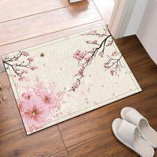 Japanese Cherry Blossoms Non-Slip Floor Entryways Outdoor Indoor Front Door Mat