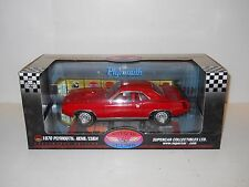 Highway 61 1:18 Diecast - 1970 Plymouth Hemi Cuda 50238 Rally Red Supercar Coll
