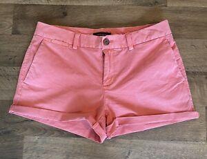 Banana Republic – Flat Front Khaki Chino Shorts - Size 4 - Pink / Coral - Summer