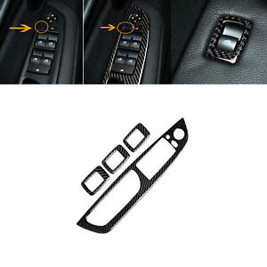 Carbon Fiber Door Window Button Frame Cover Trim For BMW X5 E70 X6 E71 2008-13