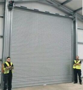 3 phase direct drive industrial roller shutter door,  5000mm w x 5000mm h