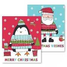 2 x Giant Large Plastic Christmas Santa Sacks Gift bags 62cm x 75cm