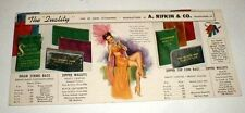 1951 Earl Moran Pin Up Ad Mailer Showgirl