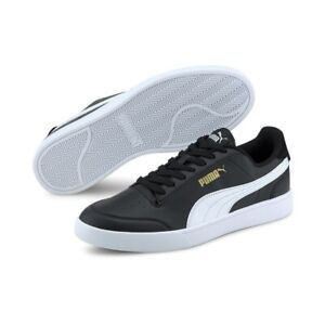 Puma Men's Shuffle Fashion Sneaker Puma Black - White - Gold