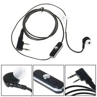 2Pin Sports Earpiece Headset with PTT MIC for Baofeng Retevis Two HYT way Radios