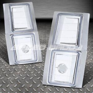 FITS 94-98 CHEVY GMT400 C10 C/K SUBURBAN CHROME HOUSING CLEAR CORNER REFLECTOR