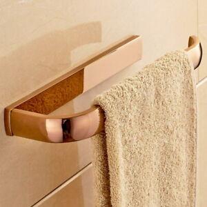 Luxury Rose Gold Wall Mount Towel Ring Towel Bar Lavatory Towel Rack Holder