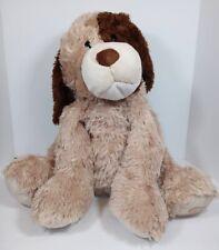 "New listing Toys R Us Tan Dog Plush Brown Eye Spot Ears Puppy 24"" Sits Floppy Jumbo Large"