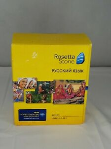 ROSETTA STONE Russian Level 1,2,3,4, 5 PERSONAL EDITION WN/MAC CD-ROM