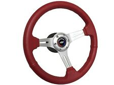 1957-1968 6 Bolt Leather Steering Wheel Kit w/Chevy Tri Color Bow Tie Emblem