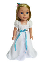 """Doll Clothes 14.5 Inch Dress White Victorian Fit 14.5"""" AG Wellie Wishers Dolls"""
