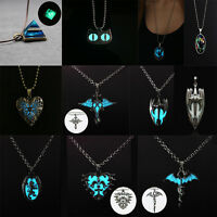 Unisex Luminous Pyramid Star Animal Pendant Necklace Jewelry Glow In The Dark