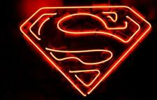 "New Superman Movie Comics Bar Neon Light Sign 20""x16"""