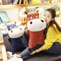 Big Pop Anime Cow Plush Pillow Toy Giant Soft Stuffed Milk Cow Animals Doll Gift