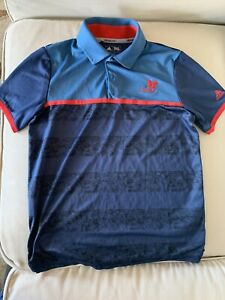 Adidas Boys Climacool Camo Stripe Golf Polo (M)- Kapalua Resort Logo