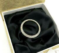18k white gold 3.20 cts Round White Diamond Bezel for Rolex DateJust 36mm Watch