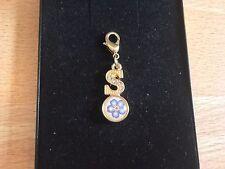 Nueva carta S Flor Floral Disfraz De Encanto Colgante Para Collar Joyería