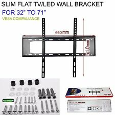 32 TO 71 SLIM FLAT TV LED LCD OLED QLED WALL MOUNT BRACKET FOR 34 37 40 42 INCH