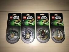 Lot of 4 Lego Star Wars Yoda Obi-Wan Kenobi Chewbacca Luke Minifig Magnet